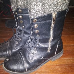 Laced Up Boots